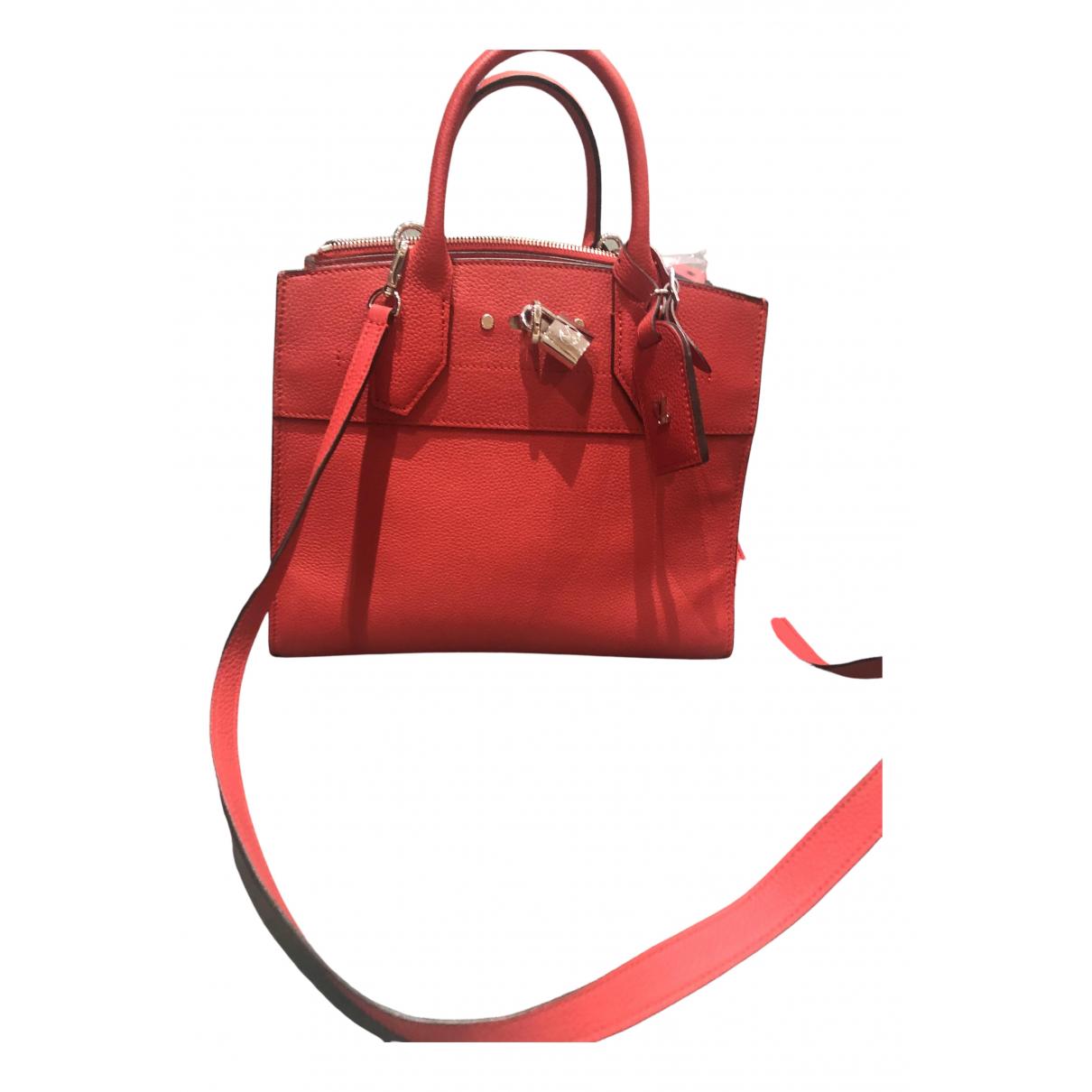 Louis Vuitton - Sac a main City Steamer pour femme en cuir - rouge