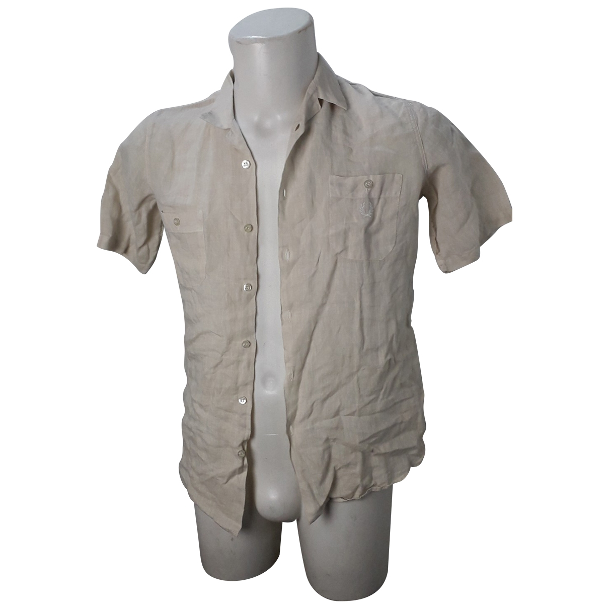 Fred Perry \N Beige Linen Shirts for Men S International