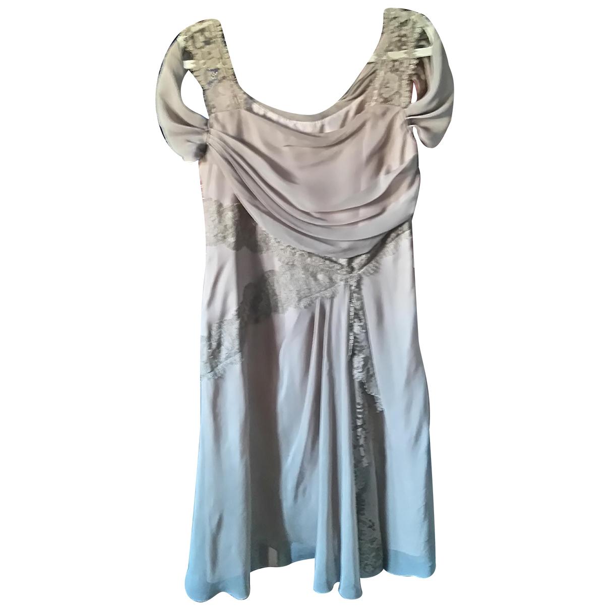 Alberta Ferretti \N Kleid in  Beige Seide