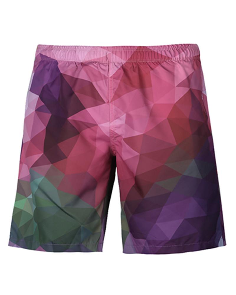 Modest Gradient Pattern Colorful 3D Beach Shorts