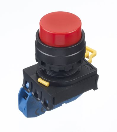 Idec , YW Illuminated Red Extended Push Button Complete Unit, NO, 22mm Momentary Screw