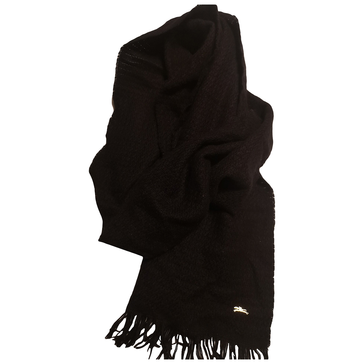 Longchamp \N Black Cashmere scarf for Women \N
