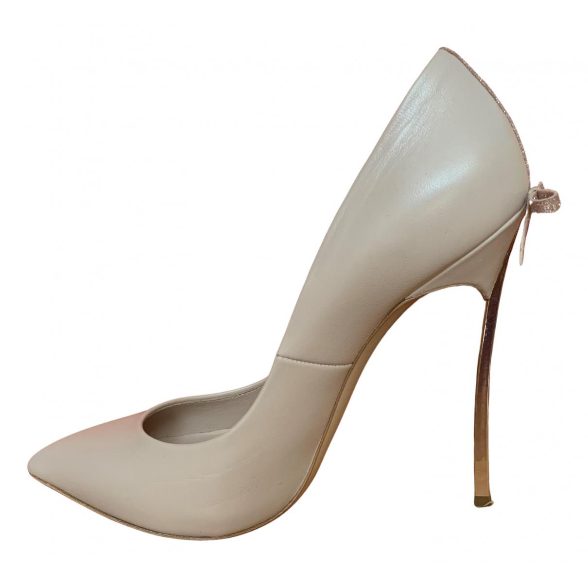 Casadei - Escarpins   pour femme en cuir - rose