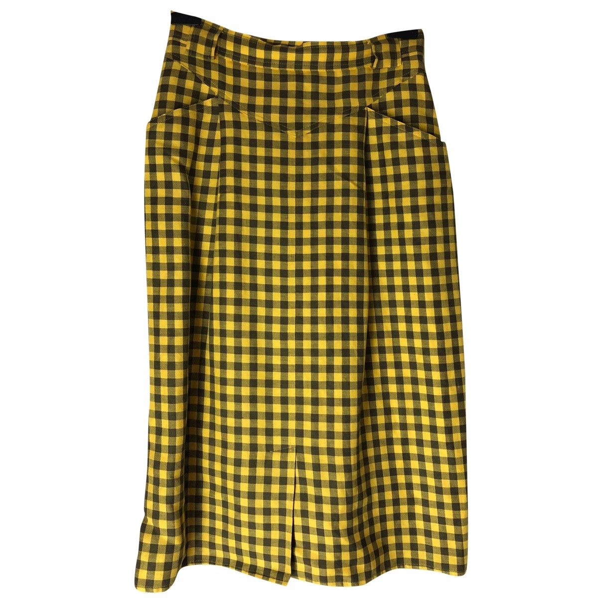 Max Mara Weekend \N Yellow Cotton skirt for Women 42 IT