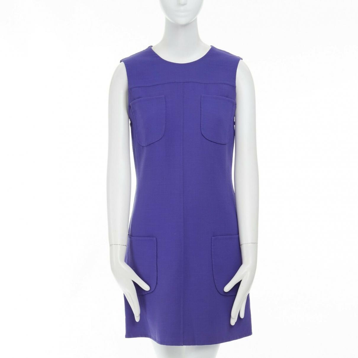 Gianni Versace - Robe   pour femme en coton - bleu