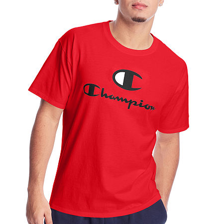 Champion Classic Graphic Mens Crew Neck Short Sleeve Graphic T-Shirt, Xx-large , Red