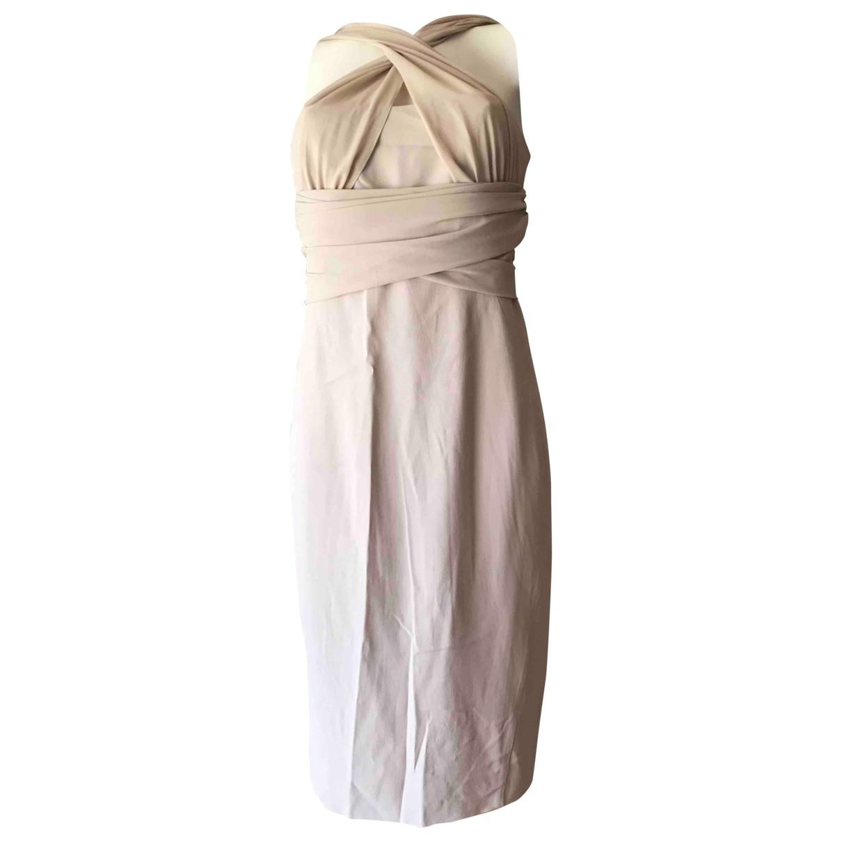Pinko \N Kleid in  Beige Synthetik