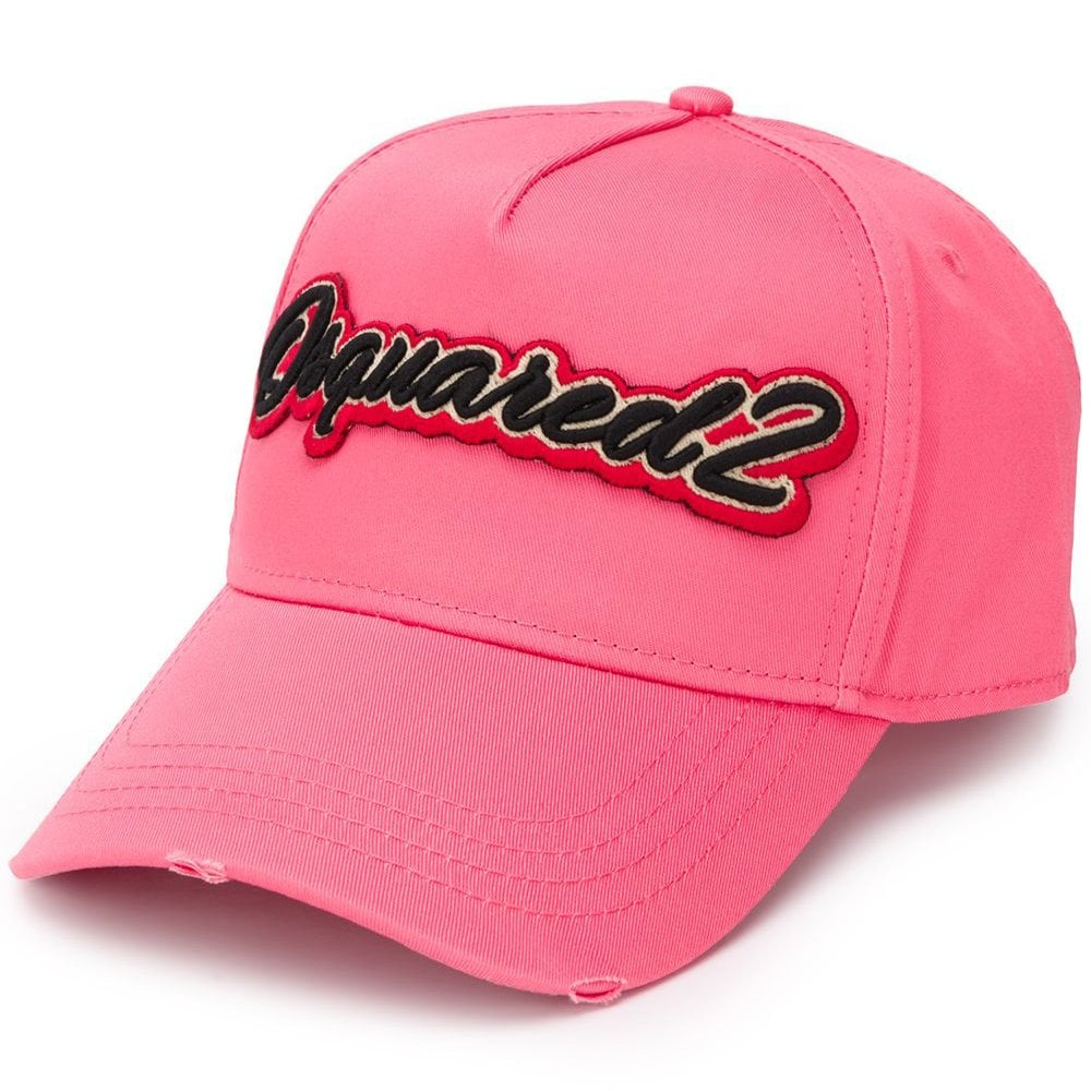 Dsquared2 Graphic Embroidered Logo Cap Pink Colour: PINK, Size: ONE SIZE