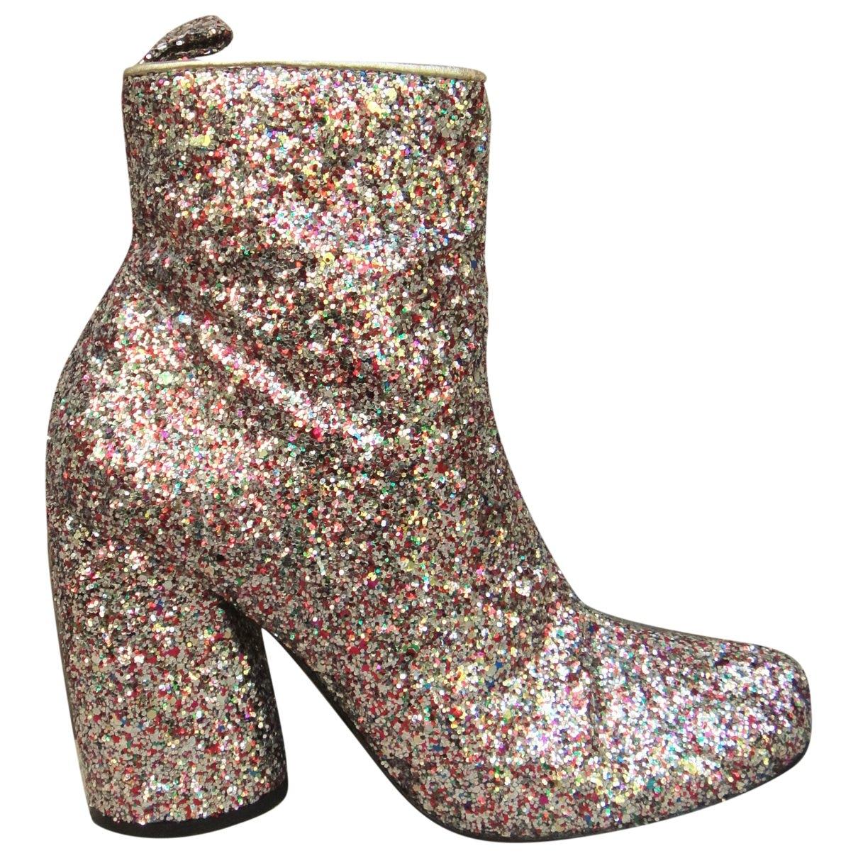 Tara Jarmon \N Multicolour Glitter Ankle boots for Women 36 EU
