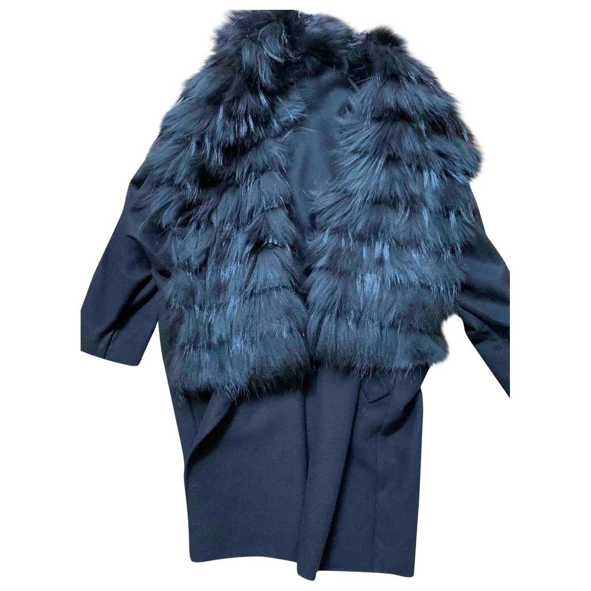 Ermanno Scervino \N Black Fox coat for Women 40 FR
