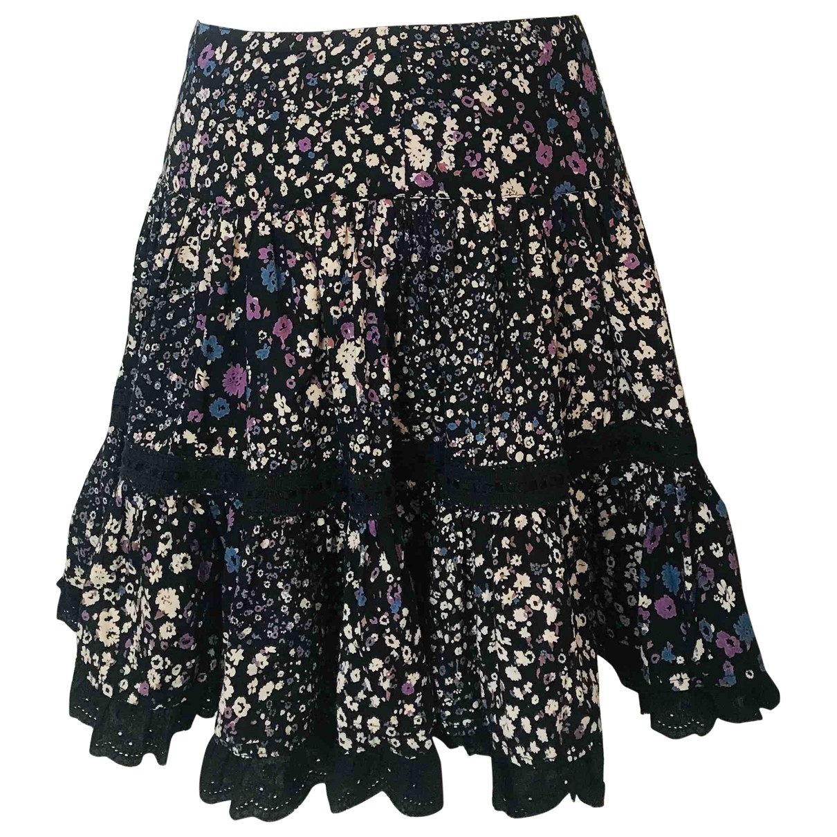 Non Signé / Unsigned \N Black Cotton skirt for Women 36 FR