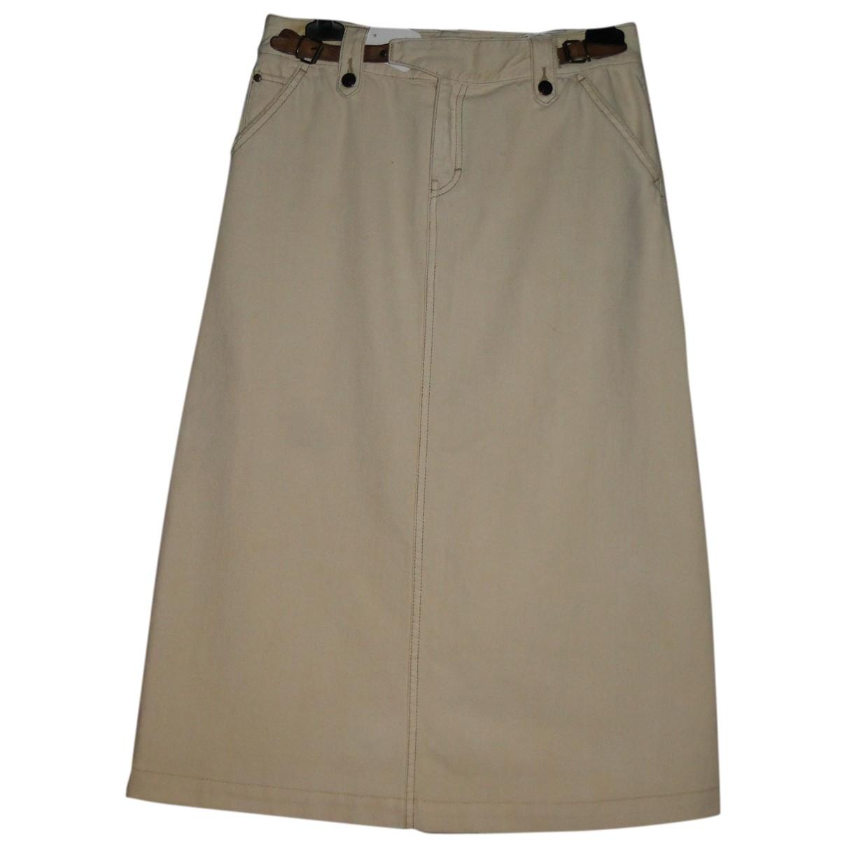 Ralph Lauren - Jupe   pour femme en coton - elasthane - ecru