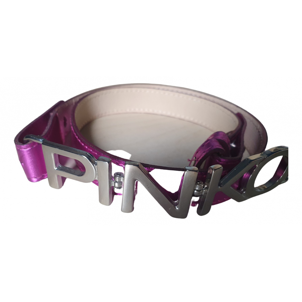 Pinko \N Pink Leather belt for Women S International