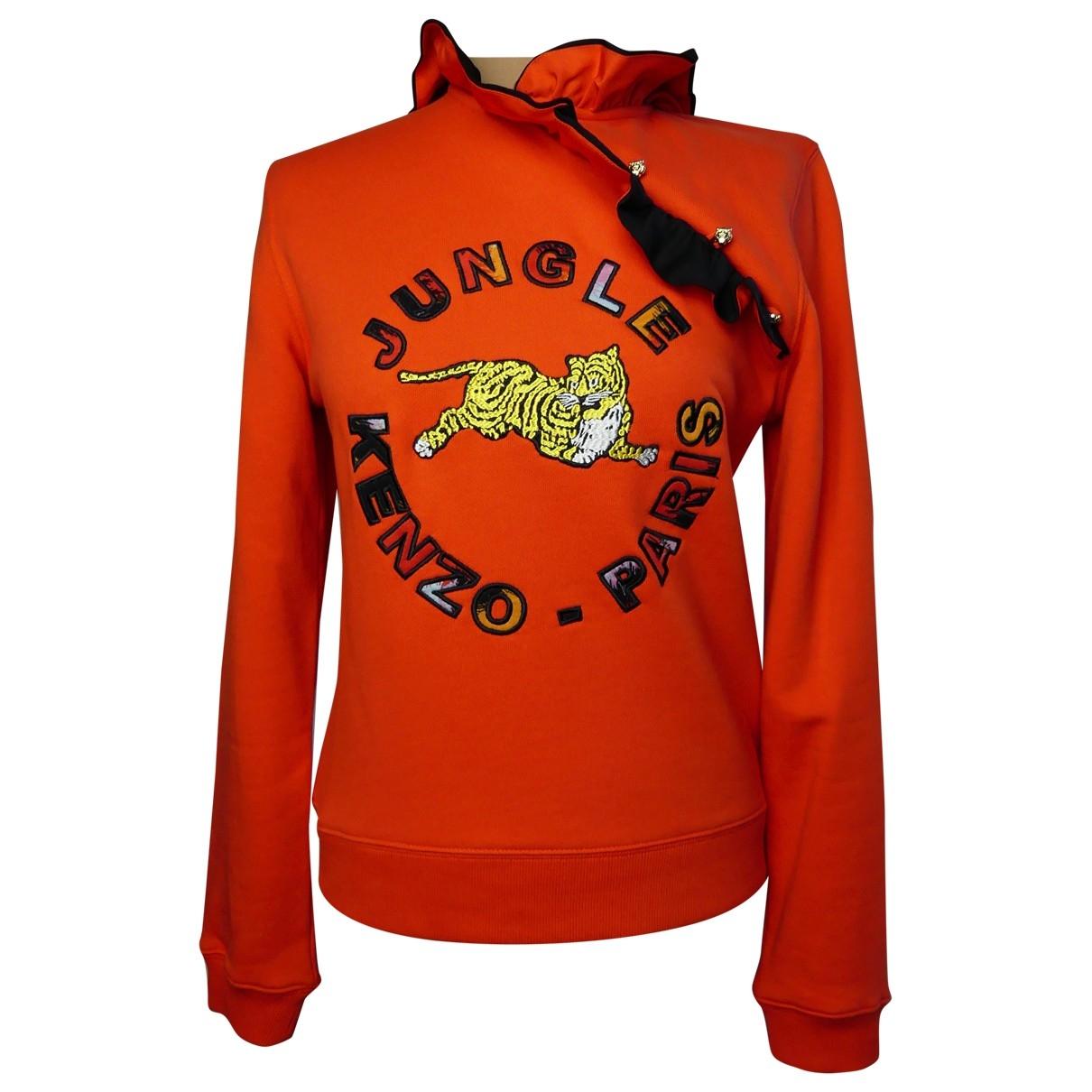 Kenzo X H&m \N Pullover in  Orange Baumwolle