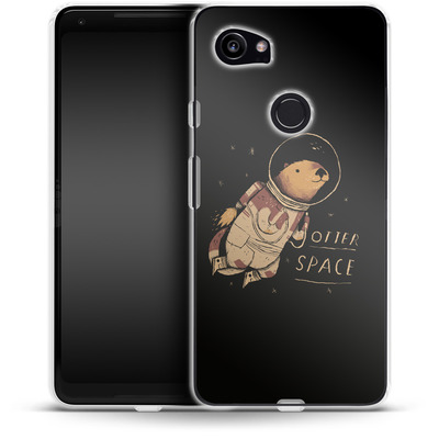 Google Pixel 2 XL Silikon Handyhuelle - Otter Space von Louis Ros