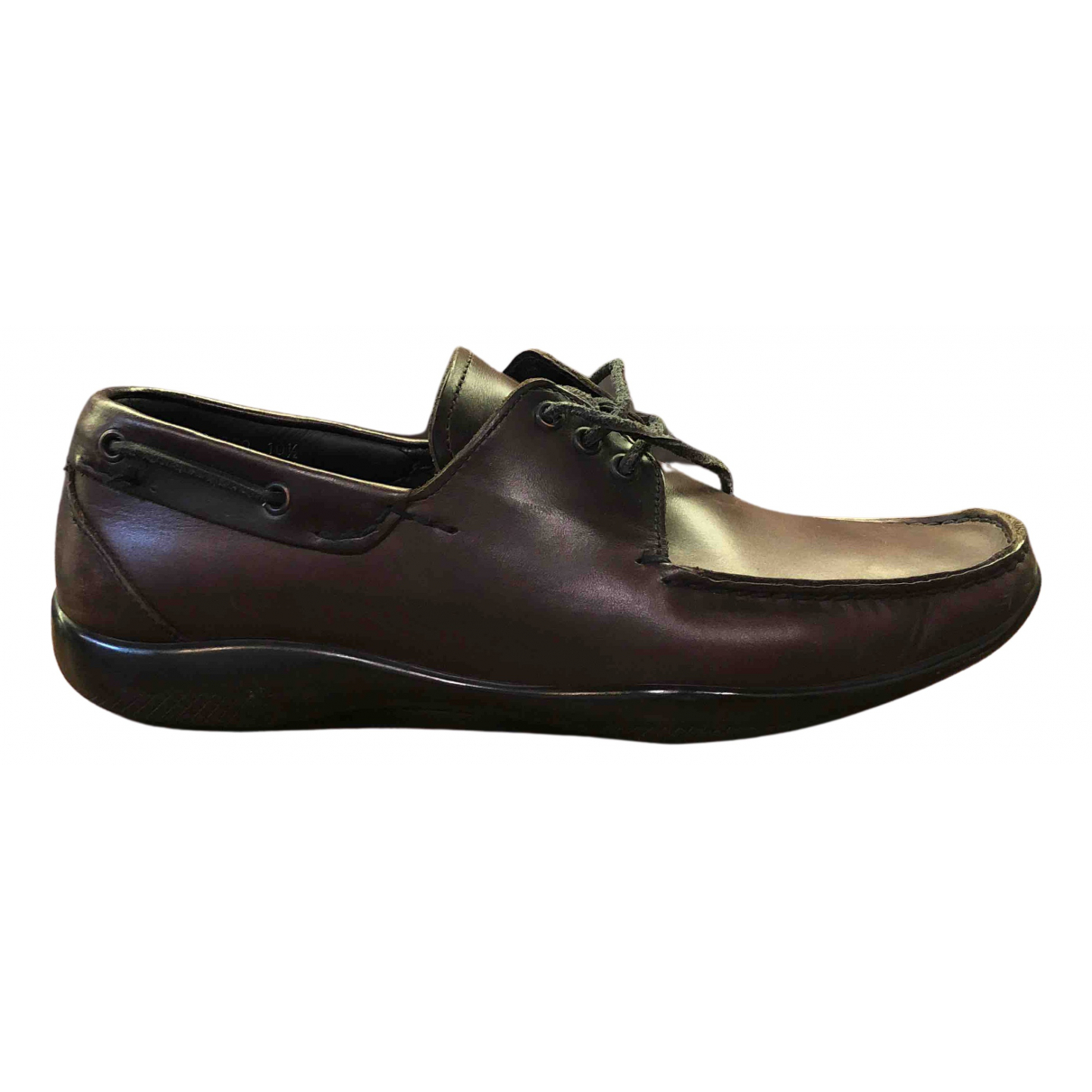 Prada N Brown Leather Lace ups for Men 10.5 US