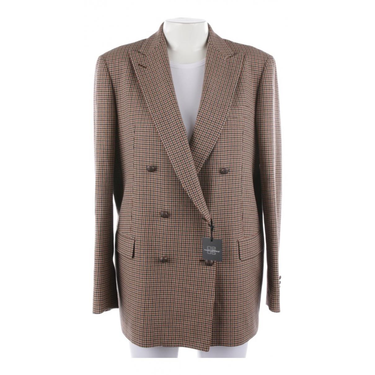 Tagliatore \N Brown Cotton jacket for Women 40 FR
