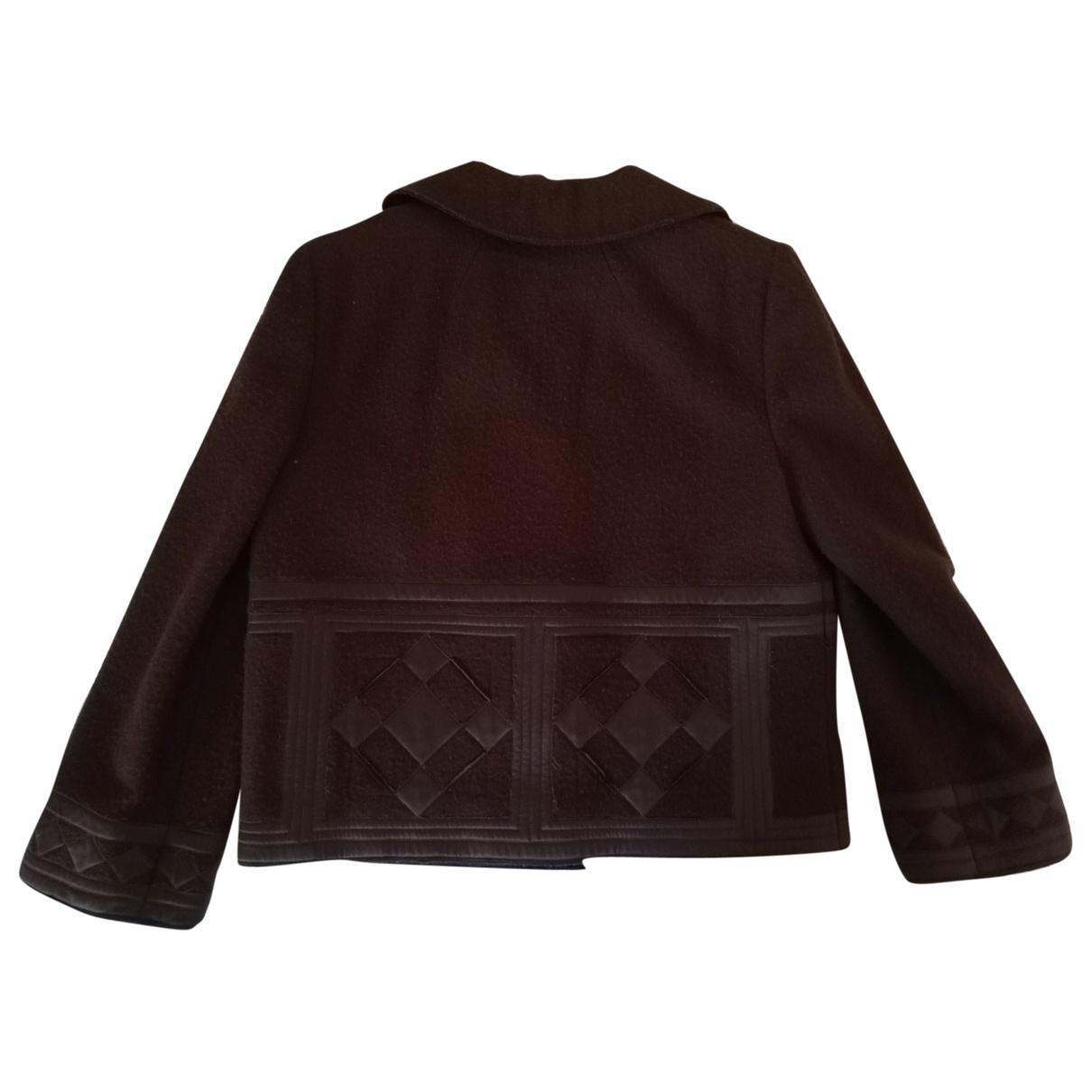 Alberta Ferretti \N Brown Wool jacket for Women 44 IT