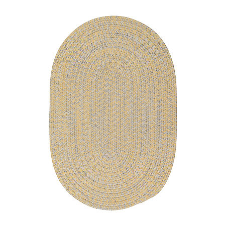 Colonial Mills Kelly Braided Oval Reversible Indoor/Outdoor Rugs, One Size , Yellow
