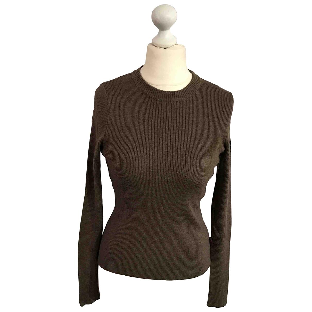 Belstaff - Pull   pour femme en laine - marron