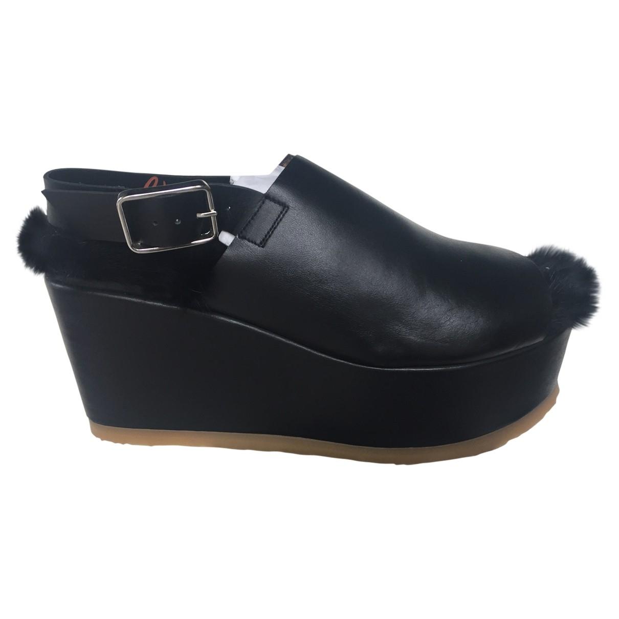 Castaner \N Black Leather Sandals for Women 38 EU