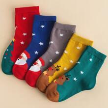 5 Paare Kleinkind Kinder Weihnachten Socken