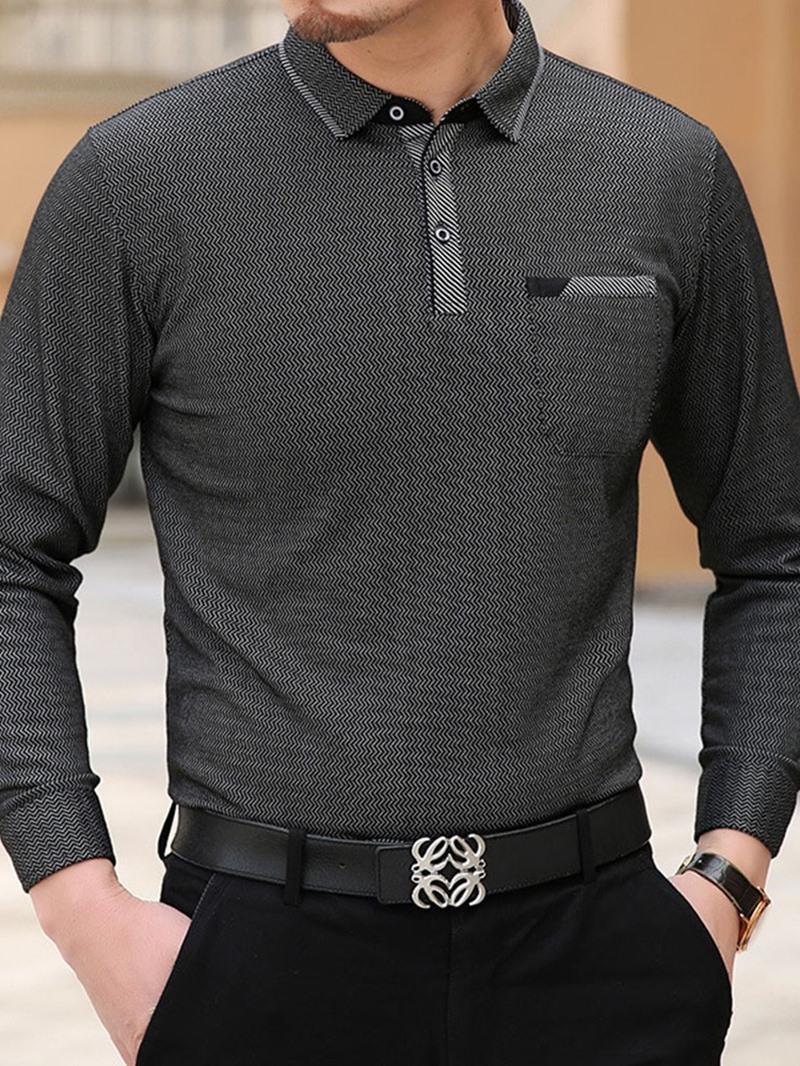 Ericdress Polo Neck Casual Polo Shirt