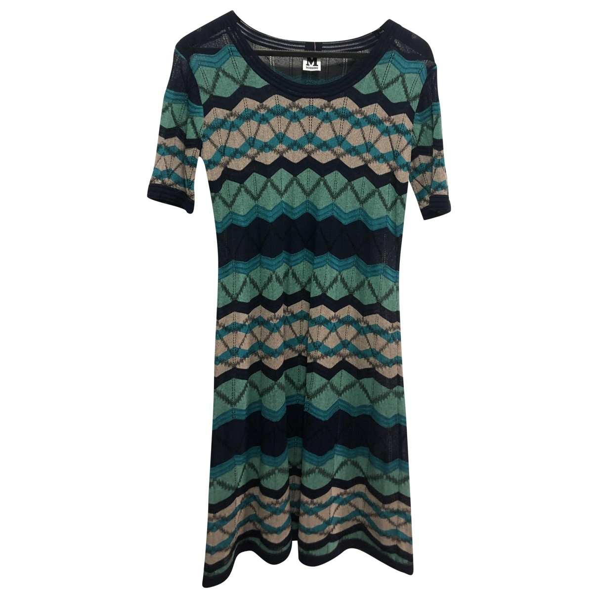 M Missoni \N Blue Cotton dress for Women 48 FR