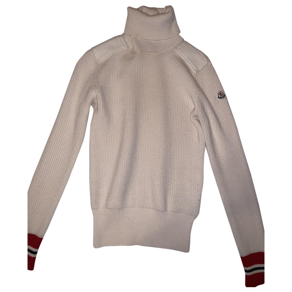 Moncler - Pull   pour femme en laine - blanc