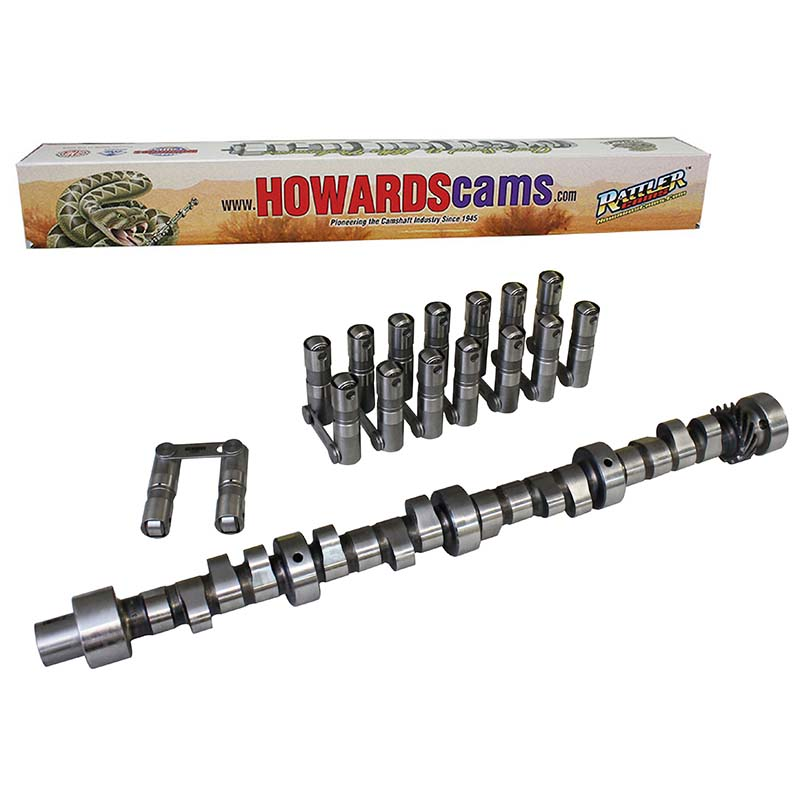 Hydraulic Roller Big Mama Rattler Camshaft & Lifter Kit; 1955 - 1981 Pontiac 265-455 2000 to 5400 Howards Cams CL418045-09 CL418045-09