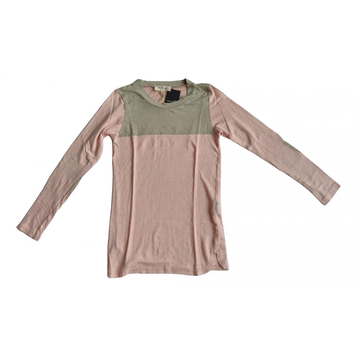Isabel Marant Etoile - Top   pour femme en lin - rose
