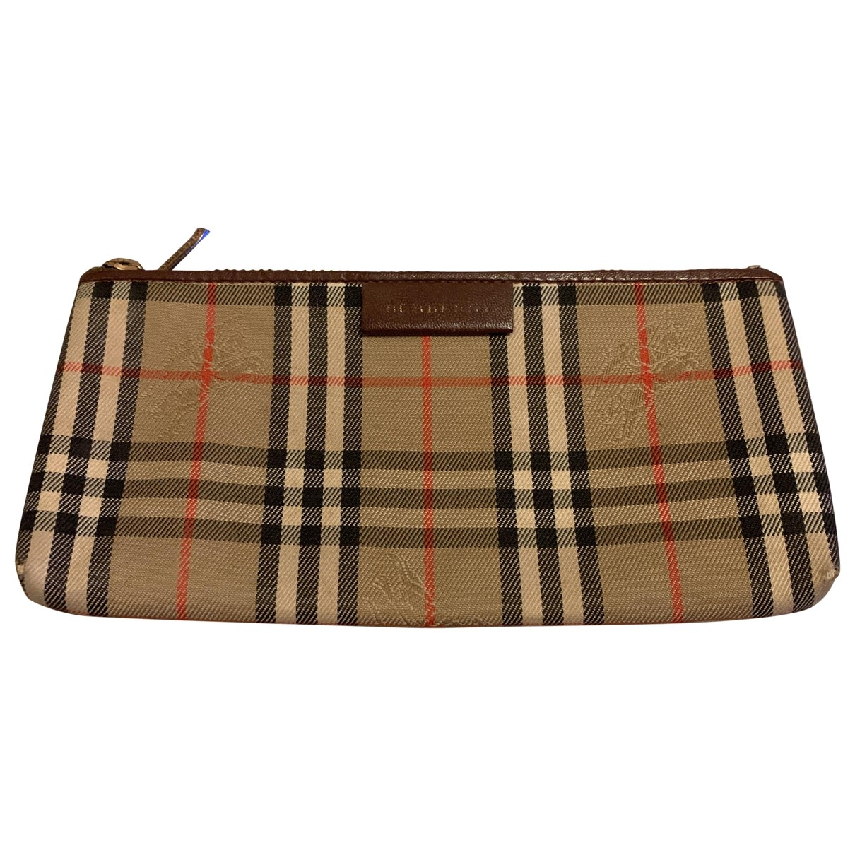Burberry \N Brown Cloth Purses, wallet & cases for Women \N