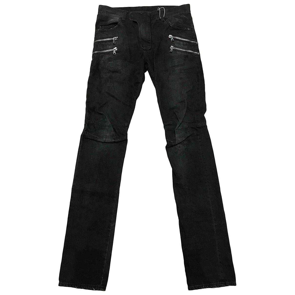 Balmain \N Jeans in  Anthrazit Baumwolle