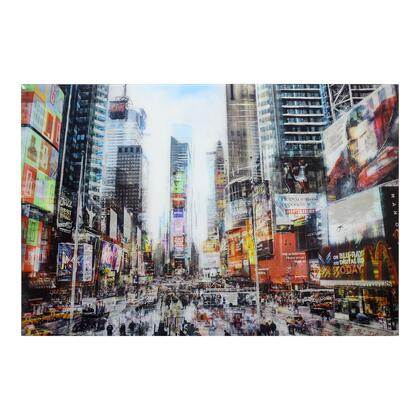 Hustle Collection FX-1173-37 Wall Decor with Glass Material in Multicolor