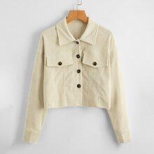 Button Front Corduroy Jacket