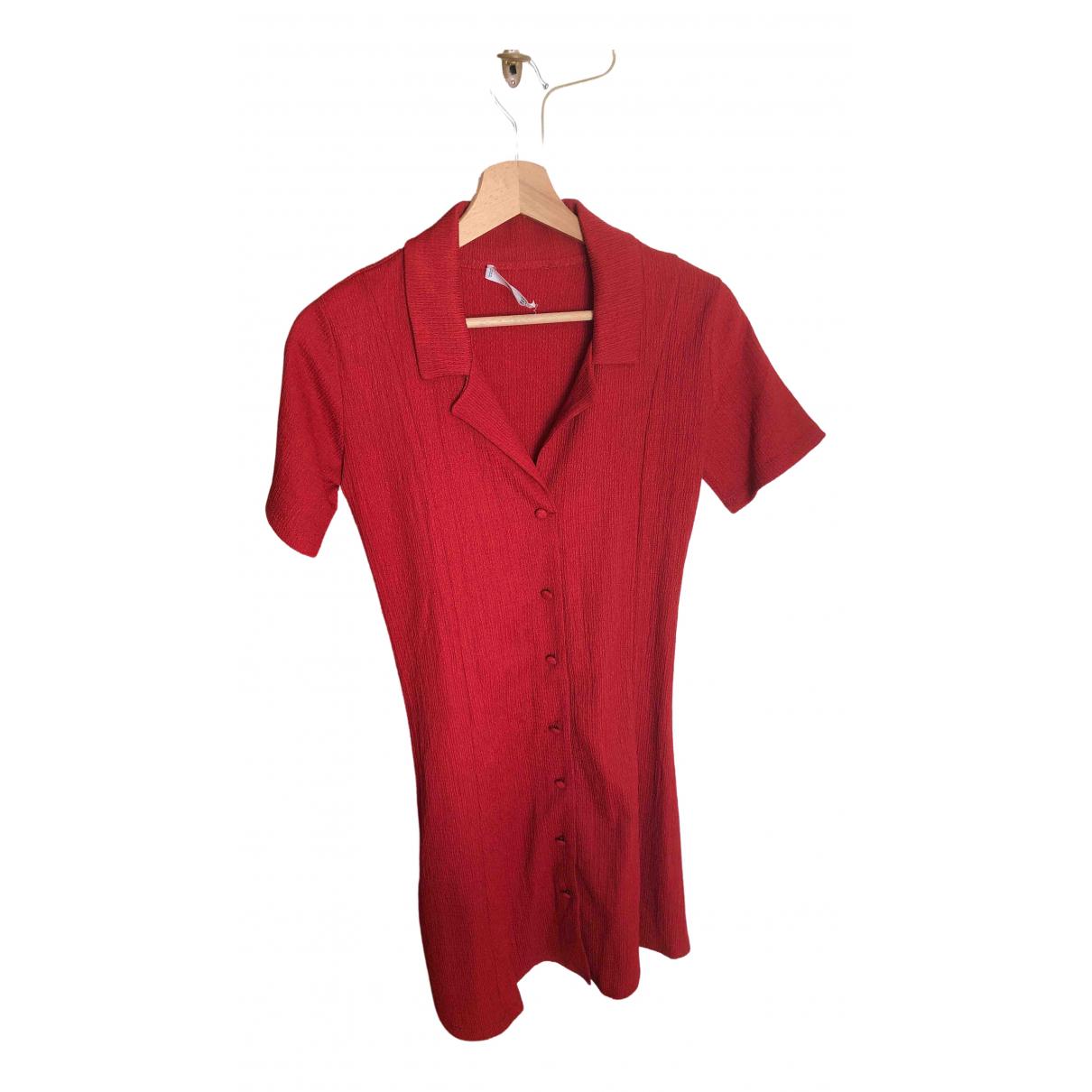Mango \N Kleid in  Rot Polyester