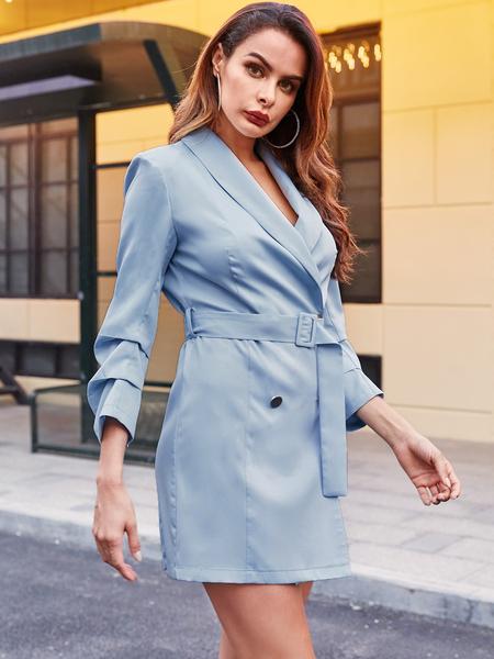 YOINS Tailored Belt Design Basic Dress