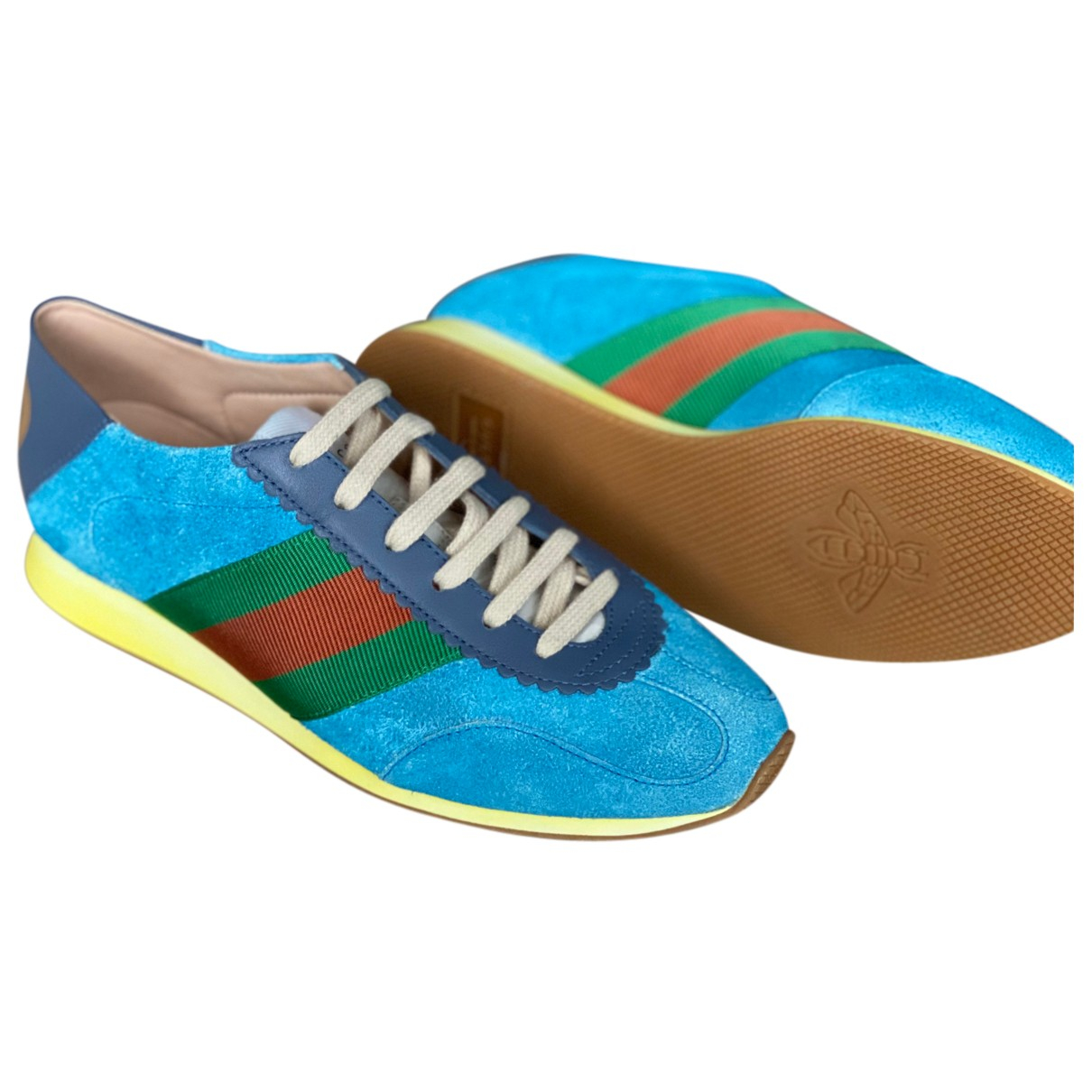 Gucci N Multicolour Leather Trainers for Women 37 EU