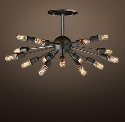 241911 Lacee 14-light Antique 16-inch Metal Edison Chandelier with Bulbs in