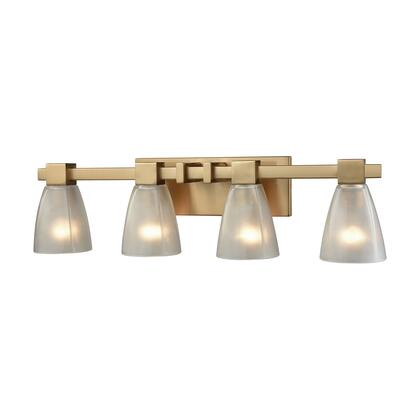 11993/4 Ensley 4 Light Vanity in Satin Brass with Frosted
