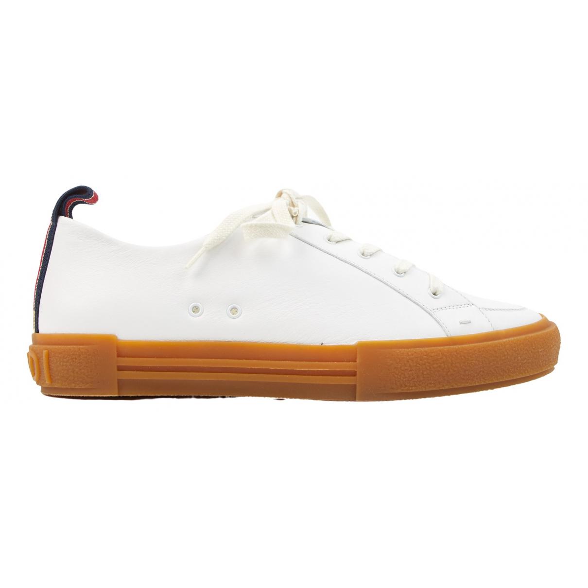 Fendi - Baskets   pour homme en cuir - blanc