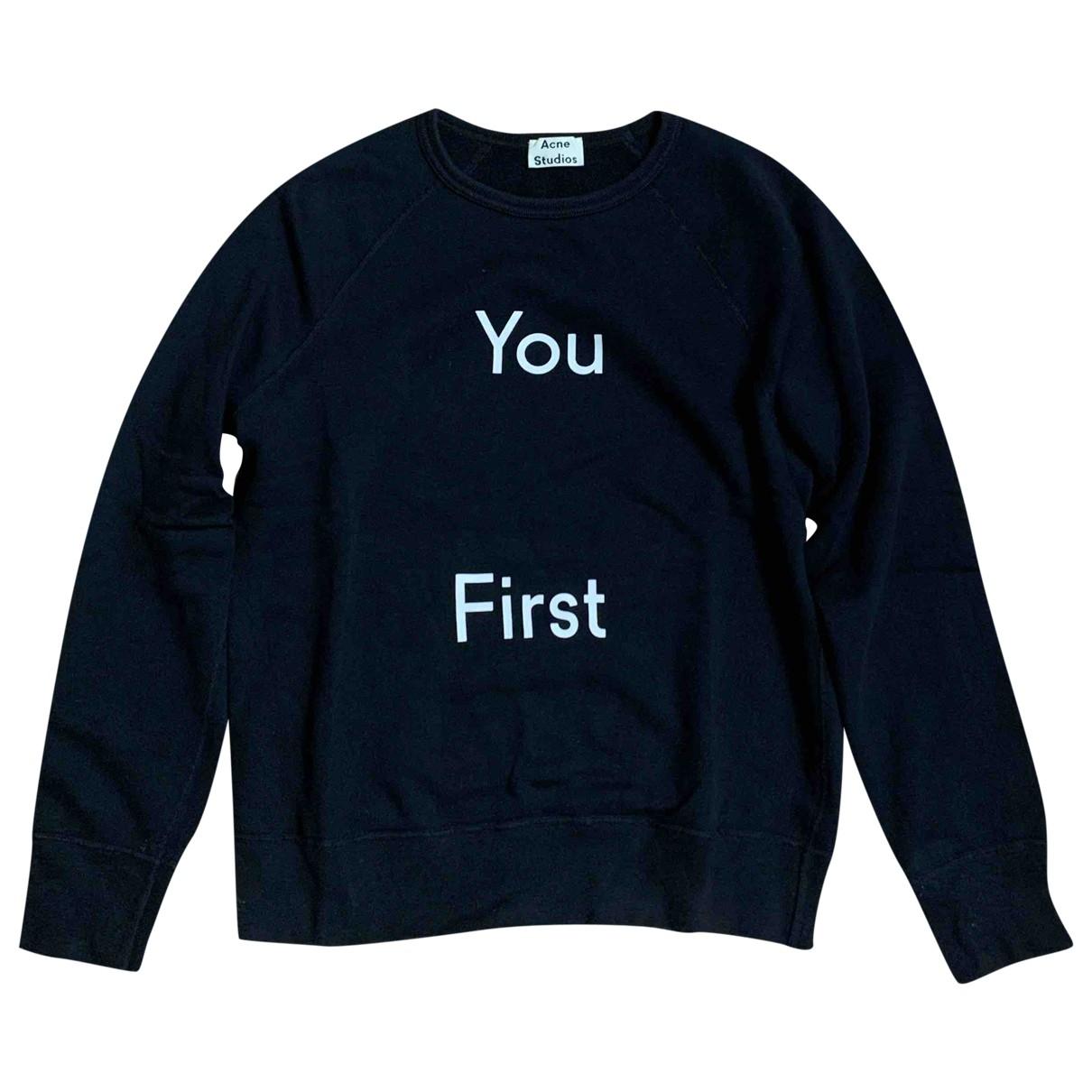 Acne Studios - Tee shirts   pour homme en coton - noir