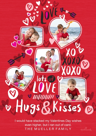Valentine's Day Cards 5x7 Cards, Standard Cardstock 85lb, Card & Stationery -Stacked Up Love
