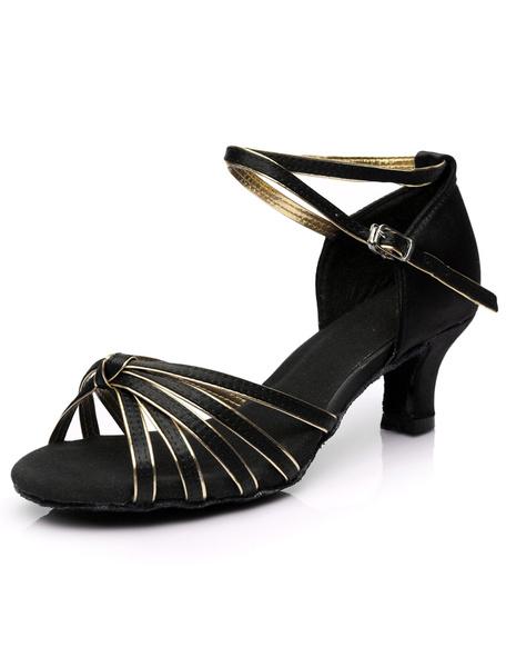 Milanoo Blue Satin Ballroom Shoes for Women