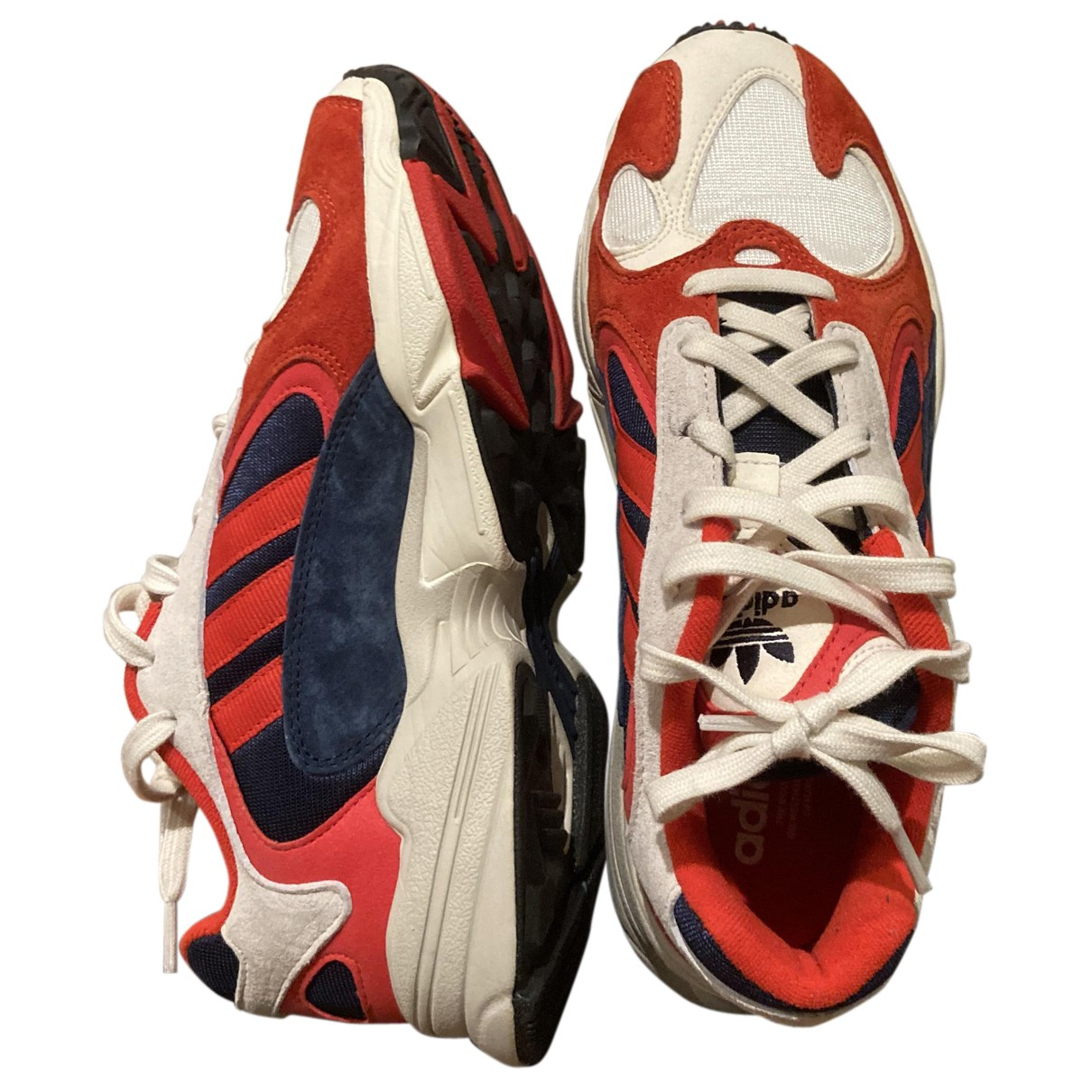 Adidas Yung-1 Sneakers in  Rot Leinen