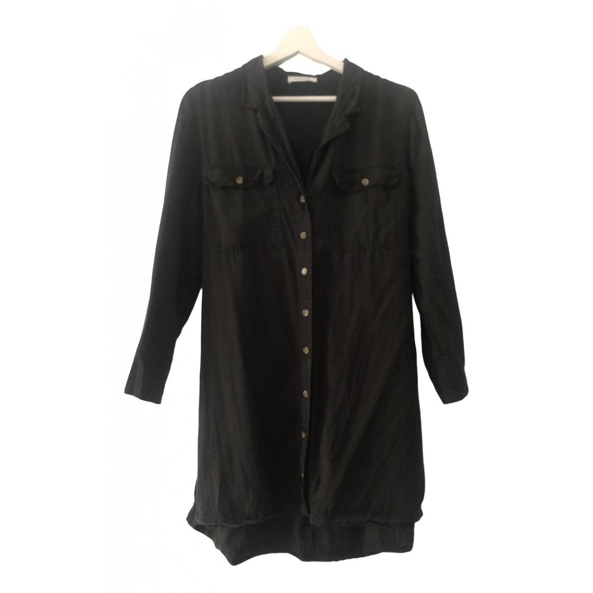 Anine Bing \N Kleid in  Schwarz Baumwolle