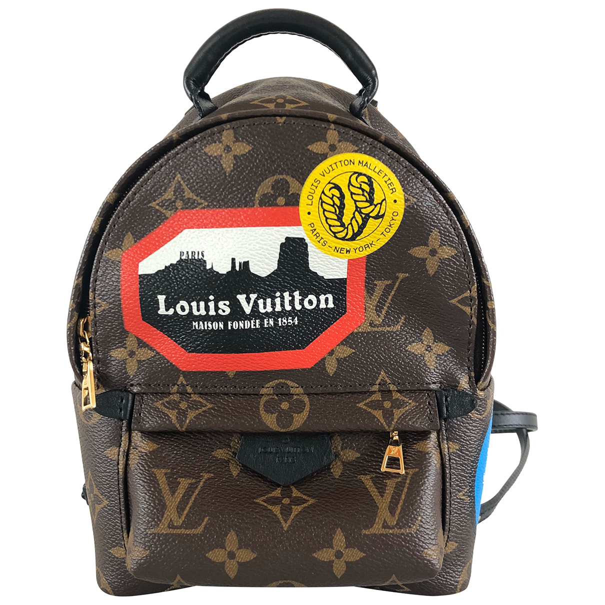Mochila Palm Springs de Lona Louis Vuitton