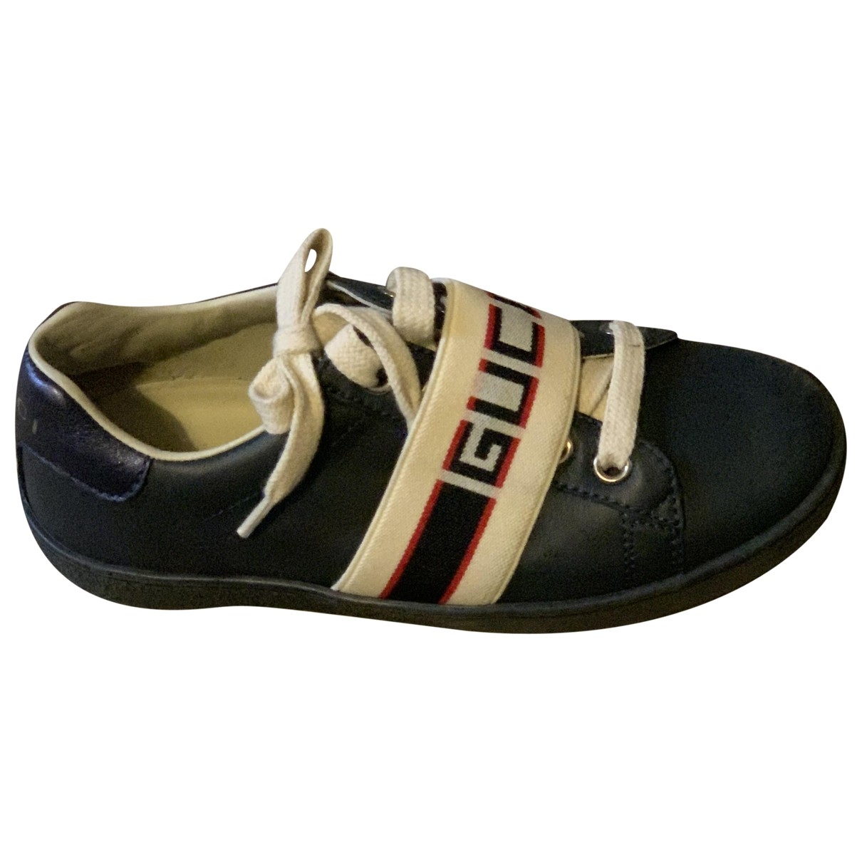 Gucci \N Navy Leather Trainers for Kids 29 EU