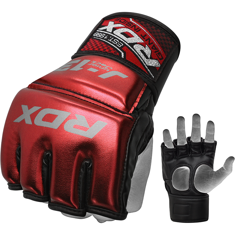 RDX J13 Junior MMA Grappling Gants Rouge