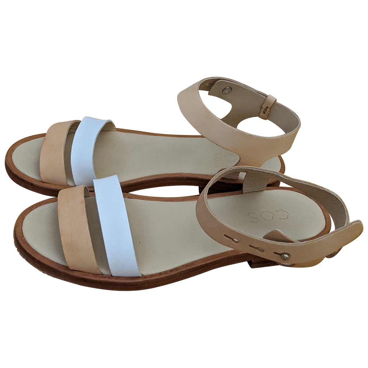 Cos \N Beige Leather Sandals for Women 38 EU